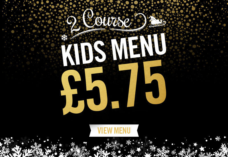Kids Festive Menu at The Railway